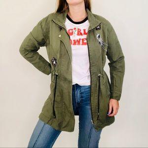 Cabi 3371 Hanson Anorak Army Green Bird Jacket
